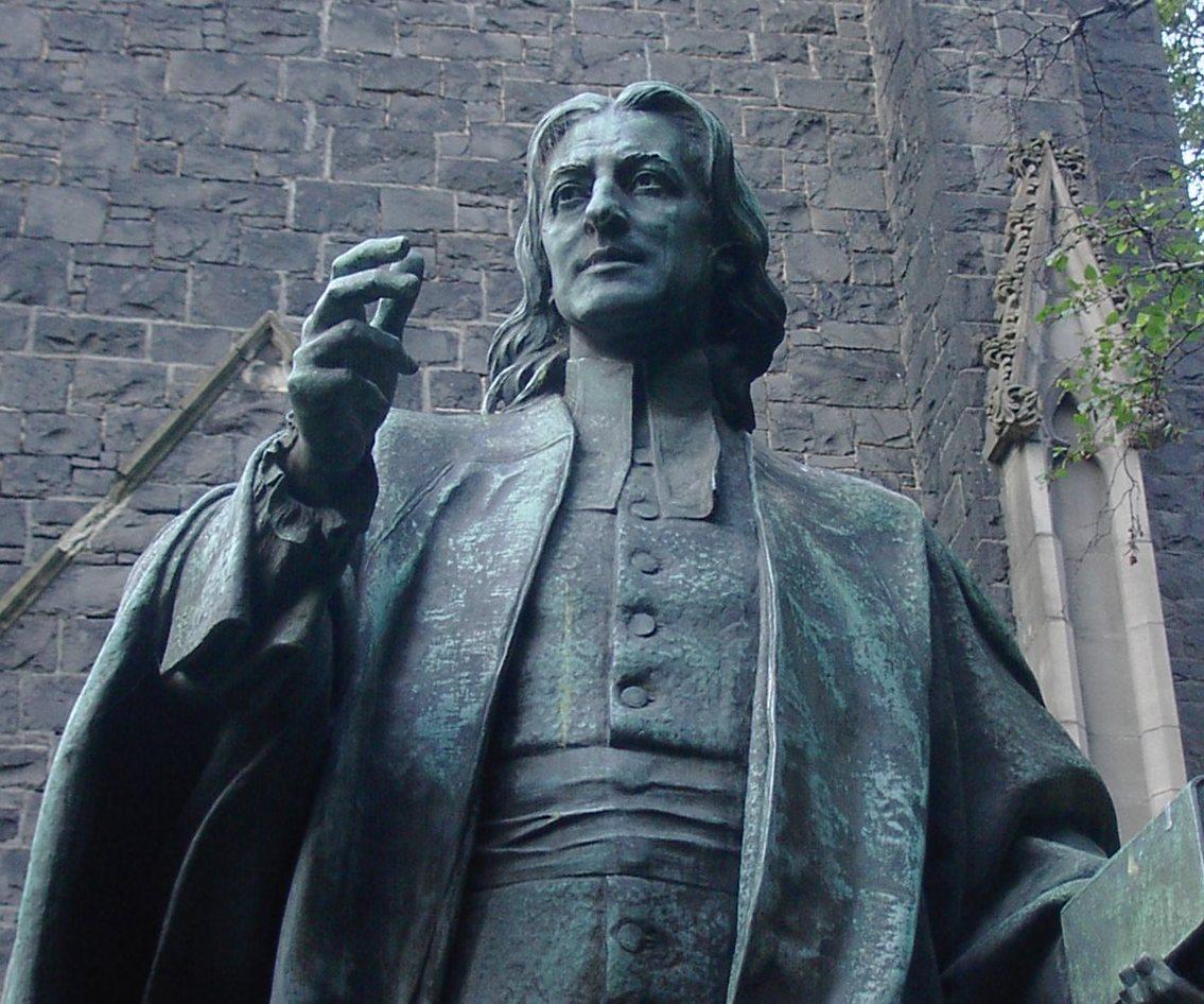 Statue of John Wesley outside Wesley Church in...