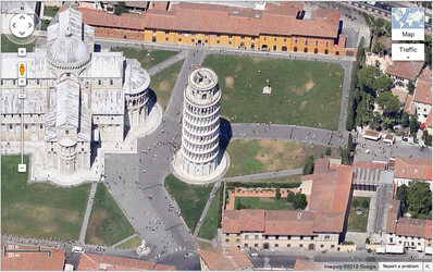 how to get birds eye view on google maps