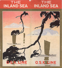 O.S.K. Line's travel brochure &quotThe Inland Sea,&quot circa 1932. - Mitsui O.S.K. Lines