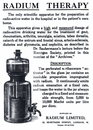 """Radium Therapy"" ad"