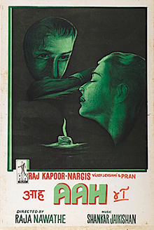 <i>Aah</i> (film) 1953 Hindi film by Raja Nawathe