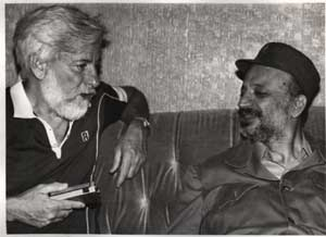 Avnery with Yassir Arafat in Beirut, July 1982
