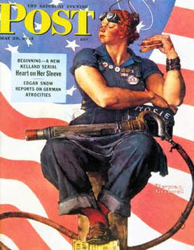 "Poster original ""Rosie the Riveter"""