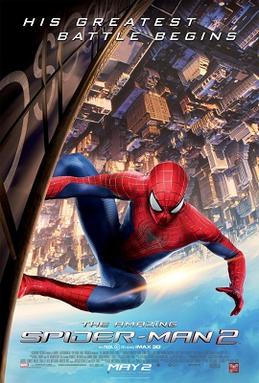 Movie release poster for The Amazing Spider-Man 2, courtesy Sony Pictures