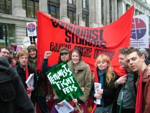 Communist Students members on Free Education d...