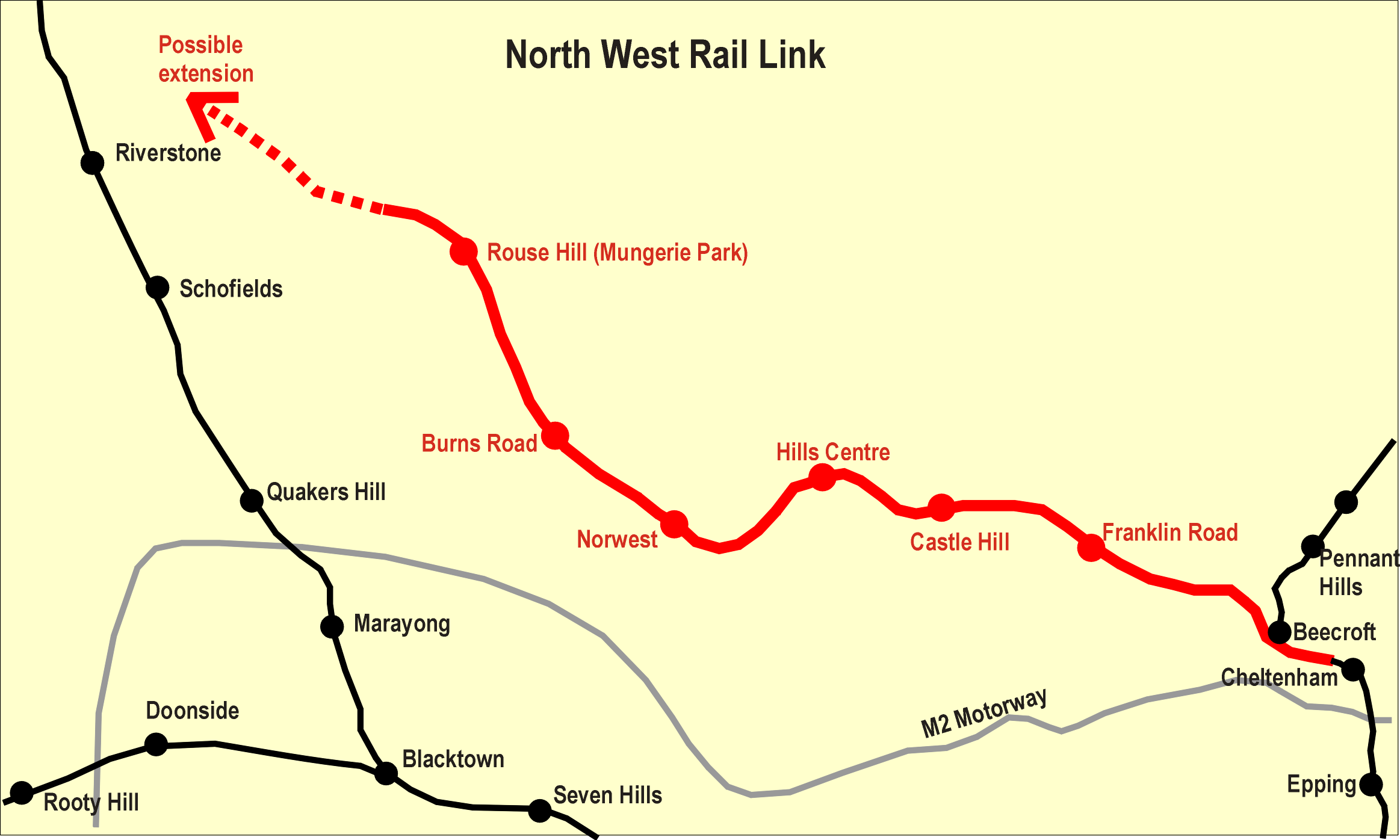 North West Rail Link Map File:North West Rail Link, Sydney.png   Wikipedia