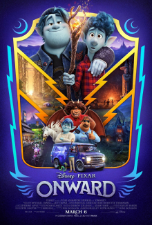 Onward 2020 US Animation Dan Scanlon Tom Holland Chris Pratt Julia Louis-Dreyfus  Animation, Adventure, Comedy
