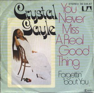 You Never Miss a Real Good Thing (Till He Says Goodbye) 1976 single by Crystal Gayle