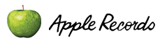 Apple Records' logos, featuring a Granny Smith apple.