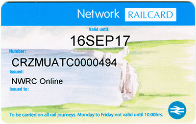 Network Railcard Map Network Railcard   Wikipedia