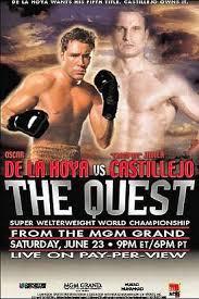 Oscar De La Hoya vs. Javier Castillejo Boxing competition