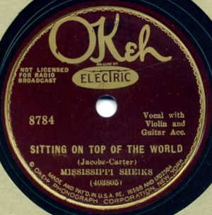 Sitting on Top of the World Blues standard