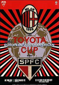 Folleto Copa Intercontinental 1993