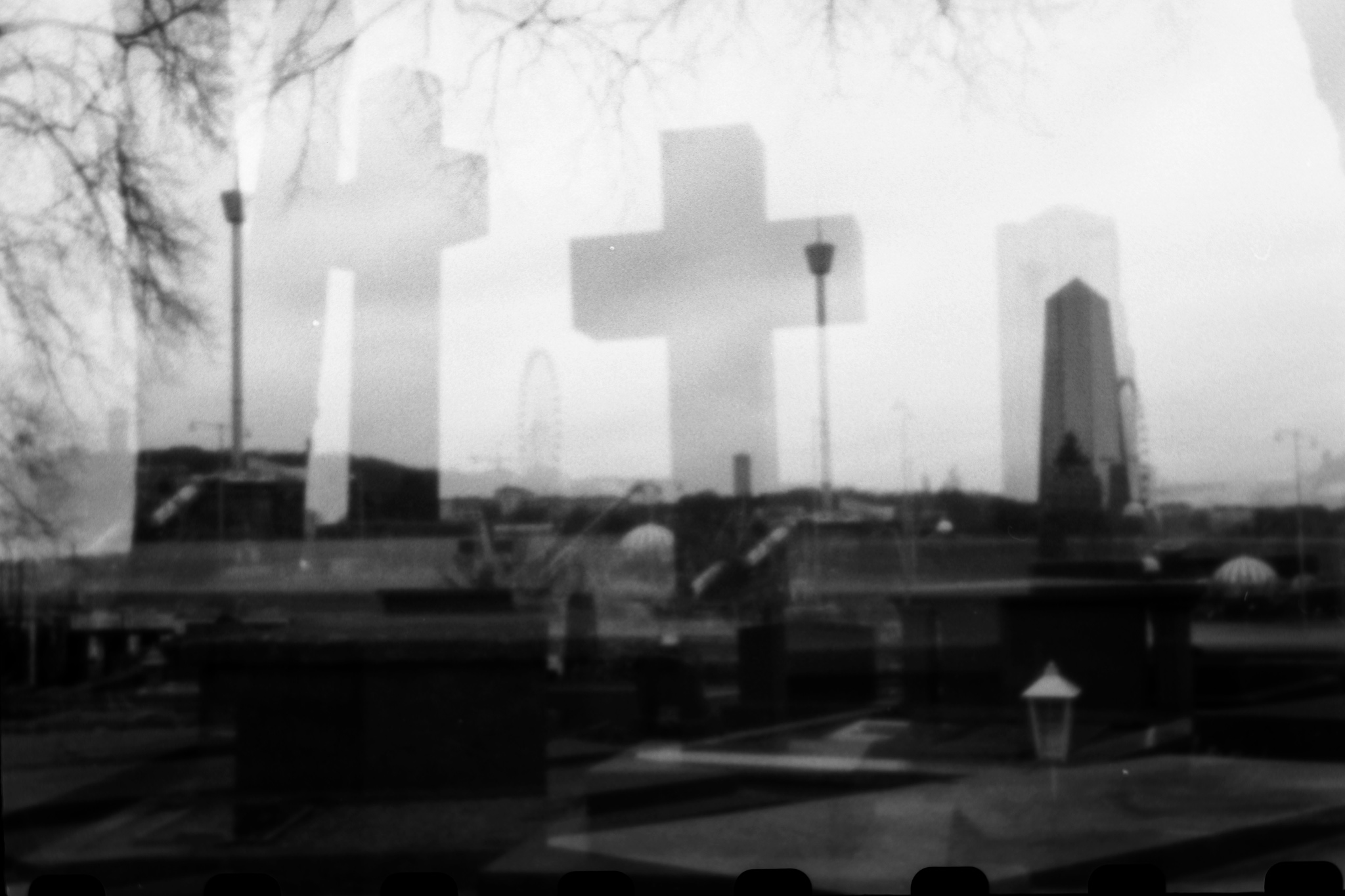 Filedouble exposure pinhole photograph of liseberg and graveyard gothenburg april 2018 png