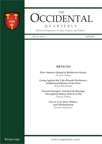 <i>The Occidental Quarterly</i> American magazine published by the Charles Martel Society