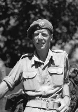 "Major Jack Mahony, VC, OC ""A"" Coy, The Westminster Regiment (Motor) at the Battle of the Melfa River (Photo from The Royal Westminster Regiment)"
