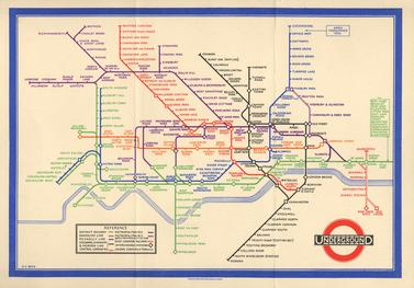 Harry Beck's original Tube Map Design