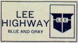 lee highway logo from 1925 rand mcnally auto trails map