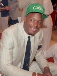 Bias after being selected in the 1986 NBA Draft.