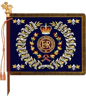Regimental colour of 1st Battalion