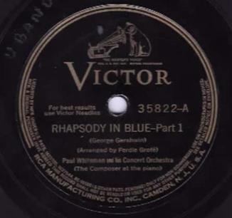 Rhapsody in Blue Manuscript of Rhapsody in Blue as