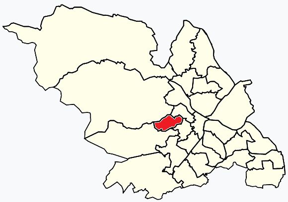 Crookes Sheffield, map