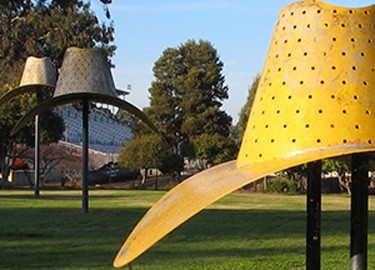 Hat In Three Stages of Landing by Claes Oldenburg.