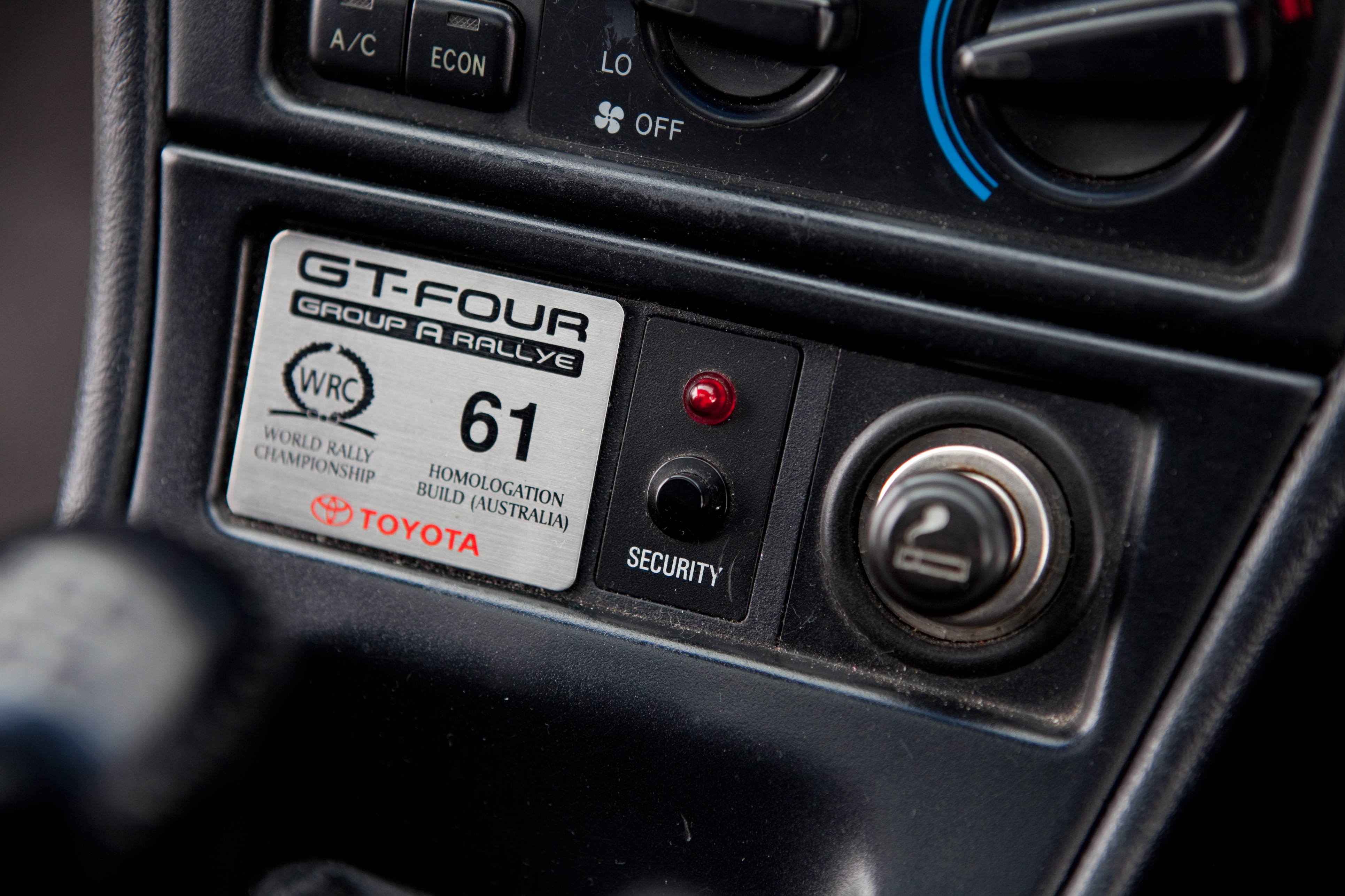 Toyota Celica Gt Four Wikipedia Fielder Pedals Plaque For Car Number 61 Of The 77 Australian Group A Rallye