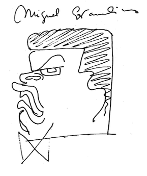 Covarrubias's caricature of himself as an Olmec.