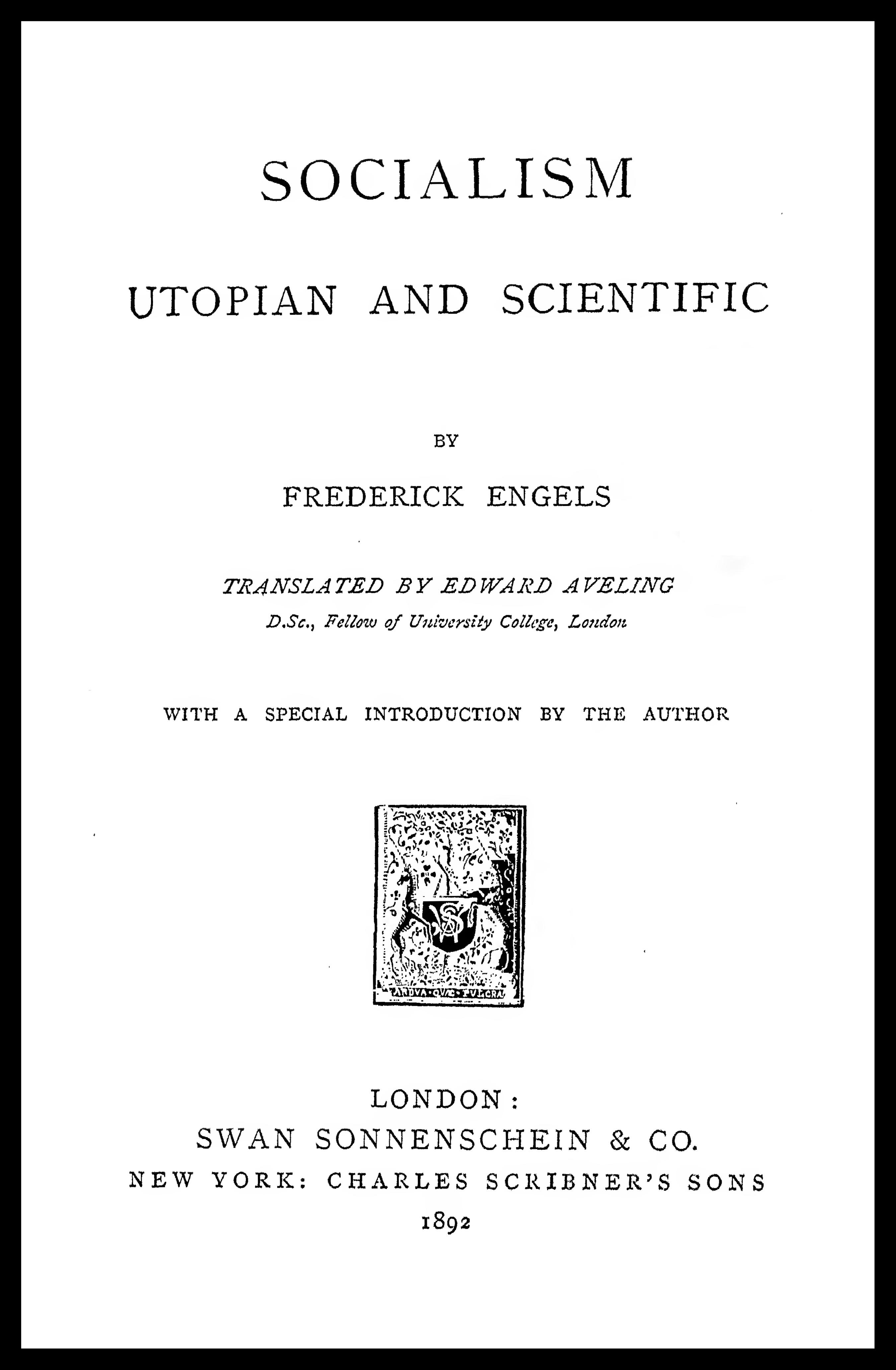 Socialism: Utopian and Scientific - Wikipedia