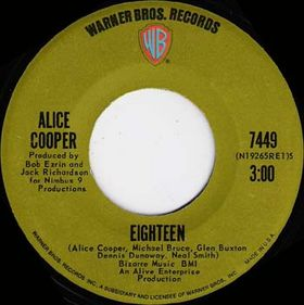 Im Eighteen 1970 single by Alice Cooper