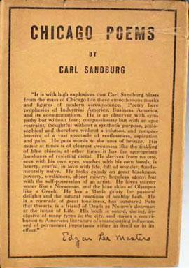 Chicago carl sandburg thesis