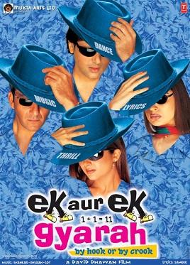 Ek Aur Ek Gyarah (2003) SL DM - Sanjay Dutt, Govinda, Amrita Arora, Nandini Singh, Jackie Shroff, Ashish Vidyarthi, Gulshan Grover, Rajpal Yadav, Tiku Talsania, Himani Shivpuri, Mahesh Anand, Supriya Karnik, Shiva Rindani, Ajit Vachani, Viju Khote