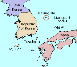 Location of Ulleung-do