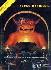 <i>Players Handbook</i> book by Gary Gygax