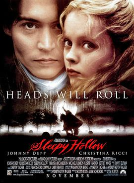 Tim Burton, Sleepy Hollow. Heads Will Roll, 1999 Movie Poster