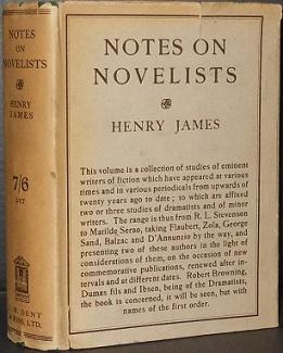 <i>Notes on Novelists</i> book by Henry James