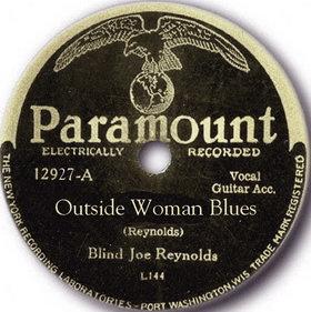 Outside Woman Blues song performed by Blind Joe Reynolds