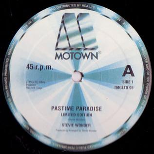 Pastime Paradise 1976 song performed by Stevie Wonder