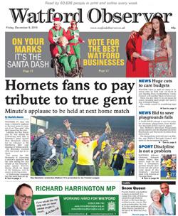 <i>Watford Observer</i> Weekly local newspaper serving Watford, Hertfordshire, UK