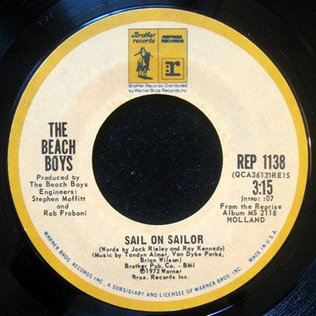 Sail On, Sailor song performed by The Beach Boys
