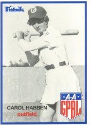 Carol Habben professional baseball player