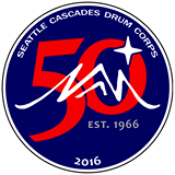 Cascades Drum and Bugle Corps 50th Anniversary logo.png