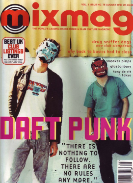Mixmag magazine cover feature in August 1997 Daft Punk Mixmag 1997.jpg
