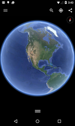 Google Earth running on Android - Google Earth
