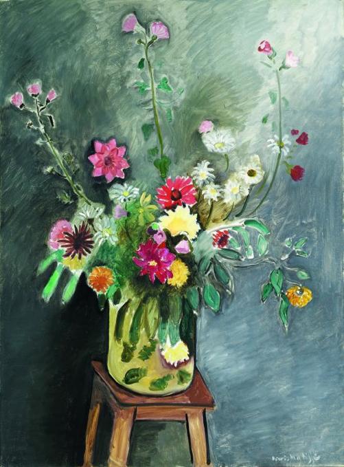 File:Henri Matisse, 1917-18, Fleurs (Bouguet), oil on canvas ...
