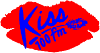 Kiss 100's iconic logo from 1990 to 1998