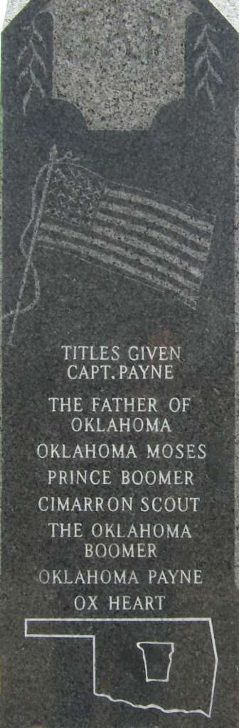 Gravestone of David L. Payne Payne-memorial-north-side.jpg