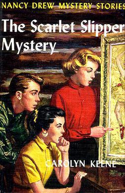 The Scarlet Slipper Mystery (Nancy Drew Mystery Stories, No 32)-ExLibrary