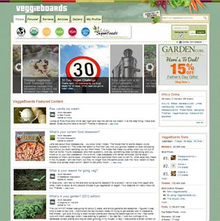 VeggieBoards internet forum for vegetarians and vegans